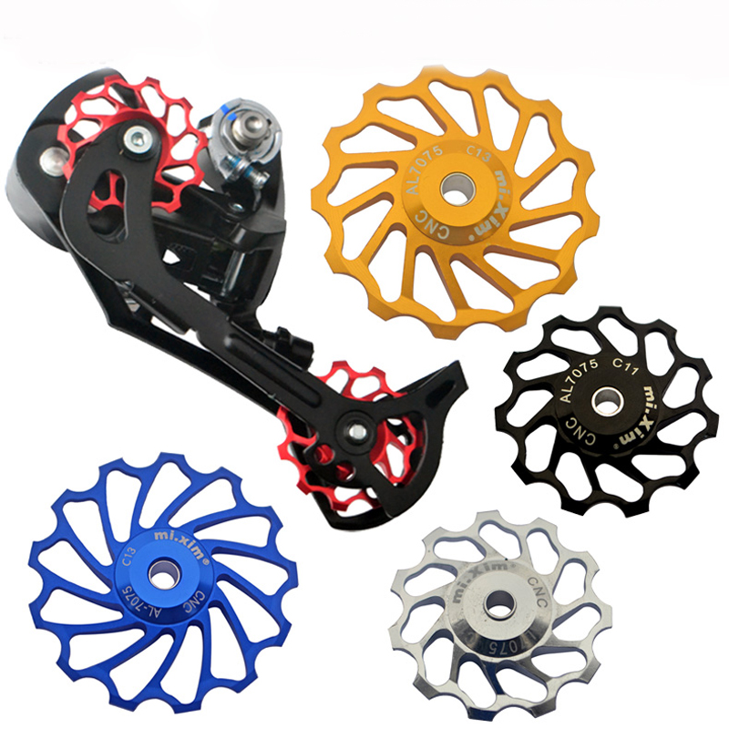 2Pcs 13T Ceramic Bearing Jockey Wheel Pulley Bike Bicycle Rear Derailleur