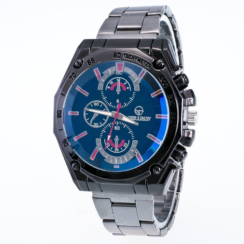 Blue Ray Glass Quartz men Watches Top GERIDUN  Brand Men Military Wrist Watches Full Steel Men Sports Watch Relogio Masculino luxury o t sea brand faux leather blue ray glass watch men military sports quartz wrist watches relogio masculino w046