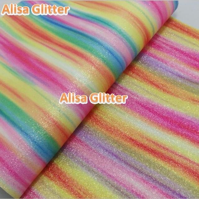 21X29 cm 3 stks Alisa Glitter Kunstleer Stof Regenboog Fijne Glitter Stof  Pu leer Stof Voor 211c047b4c69