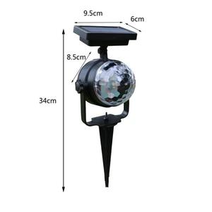 Image 5 - Słoneczna lampa projektora RGB obrotowa kryształowa magiczna kula świąteczna scena dyskoteki światło trawnik zewnętrzny krajobraz ścieżka oświetlenie zewnętrzne