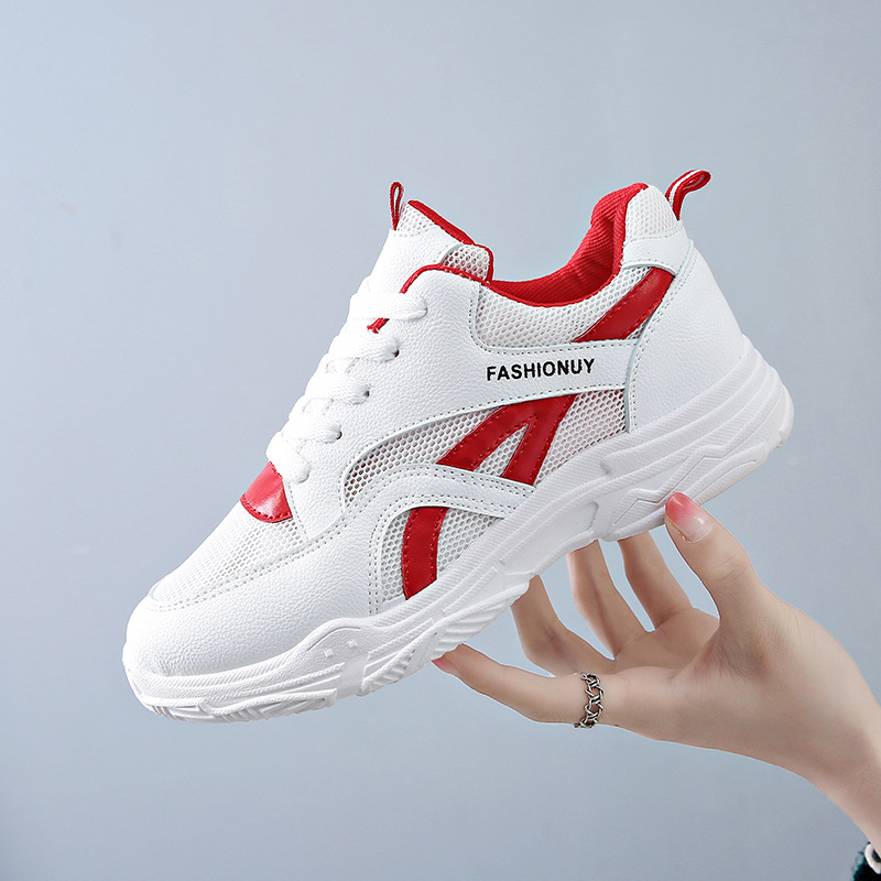 2018 Fashion Women Casual Shoes Comfortable Mesh Summer Platform Shoes Women Sneakers White Trainers Tenis Feminino Basket Femme