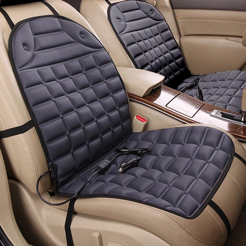 12 В серый elextric автомобиль с подогревом чехлы сидений пара сиденья, зима подушки сиденья автомобиля аксессуары поставок, отопление согретьс...