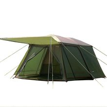 лучшая цена 5-8 Person Outdoor Tourist Tent Waterproof Windproof Double Layer Large Camping Family Travel Tents Outdoor Camping Equipment