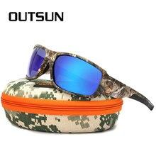 OUTSUN 2018 Polarized Sunglasses Men Women Sport fishing Driving Sun glasses Brand Designer Camouflage Frame De