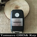 O Envio gratuito de Tamanho Original 3 Button Keyless Entry FOB Remoto Chave 433 MHZ Com ID46 Chip Para Kia K5 Sorento Sportage