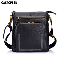 Vintage Cow Genuine Leather Men Bag Messenger Bags Small Shoulder Bags Crossbody Bag Small Men S