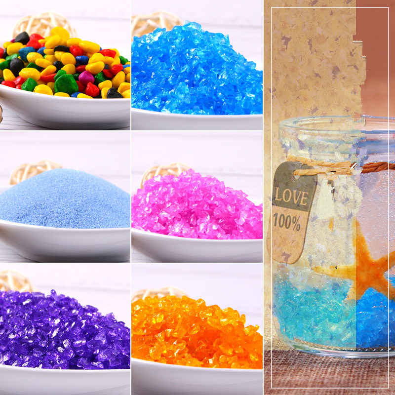 US $5.93 10% OFF|Jelly wax / colored sand colored stone /DIY candle  material / colored sand marine crystal candle /diy handmade material 50g-in  Wax ...