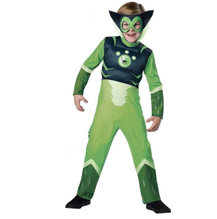 Wild Kratz Costume Creature Power Suit Green Spider Monkey for Boys Costume for Halloween
