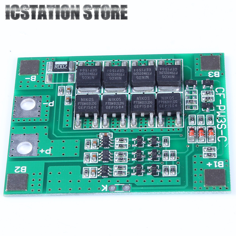 30A 3S Polymer Lithium Battery Cell Charger Protection Board PCB 18650 Li-ion Lithium Battery Charging Module 12.8-16V protection circuit 4s 30a bms pcm pcb battery protection board for 14 8v li ion lithium battery cell pack sh04030029 lb4s30a