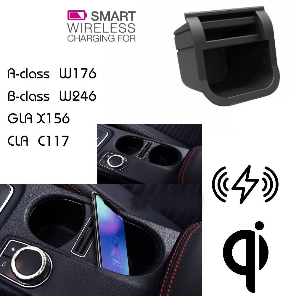 Pour Mercedes QI chargeur sans fil caché chargeur support pour téléphone stockage pour classe A B GLA CLA W176 W246 X156 C117