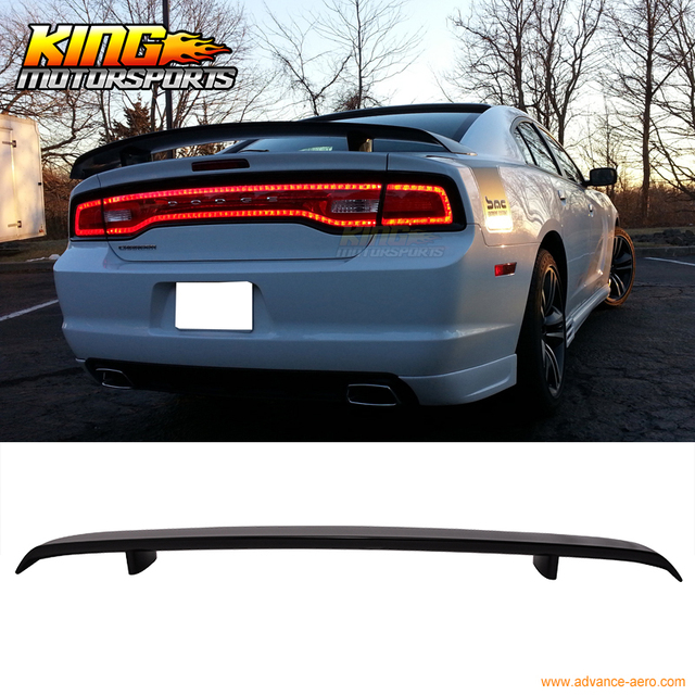 For 2017 2016 Dodge Charger Srt8 Style Trunk Spoiler Painted Gloss Black