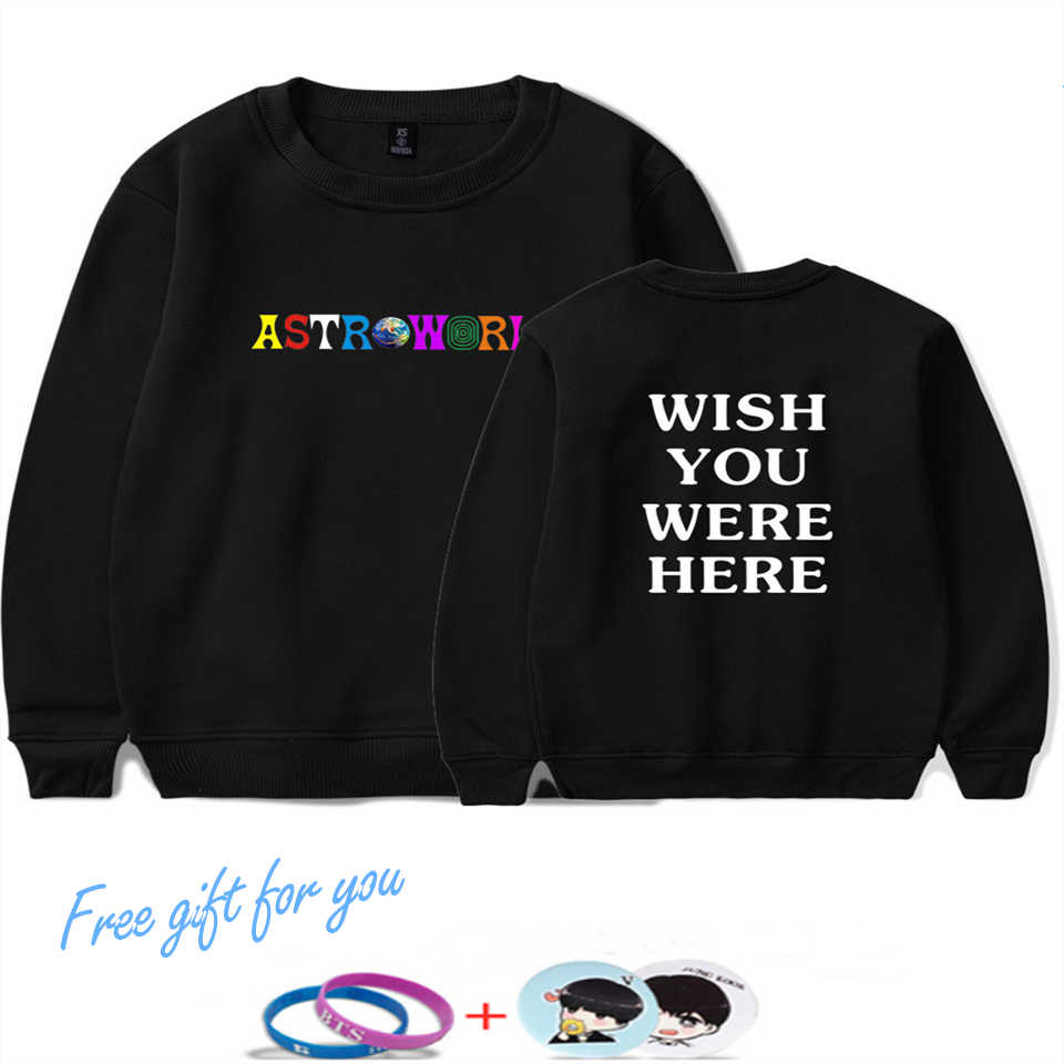 Kpop LUCKYFRIDAYF Travis Scotts ASTROWORLD Hoodie Sweatshirt Men/Women Hip Hop Print Capless Hoodies Men/Women Pullover Clothing