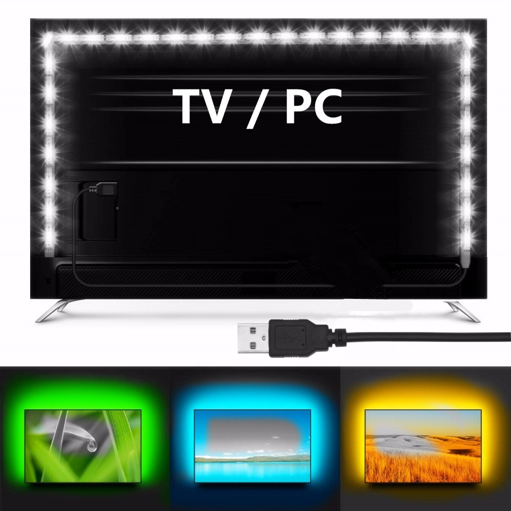 Ribbon RGB Led Strip Light rgb Strip Ribbon usb Led strip waterproof 5050 RGB Led Flexible Light TV Background Lighting 2835