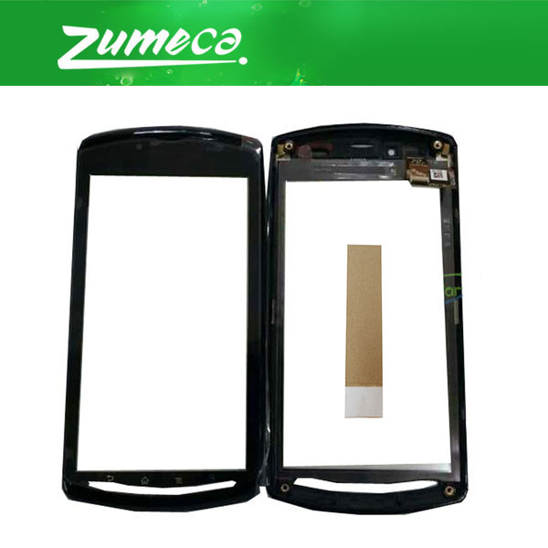 With/Without Frame 4.0 Inch For Sony Ericsson Xperia Play Z1i R800 R800i Touch Screen Digitizer Panel Lens Glass With Tape