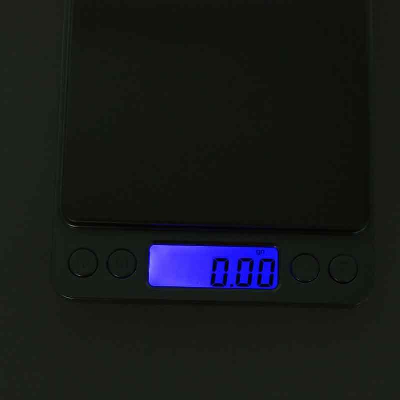 500g X 0.01g Mini Portable Digital Elektronik Jewelry Pocket Beratnya Timbangan LED Luminous Perhiasan Skala Dapur Rumah Alat