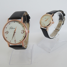 one set of 2 pcs .top fashion lovers watch with waterproof ,