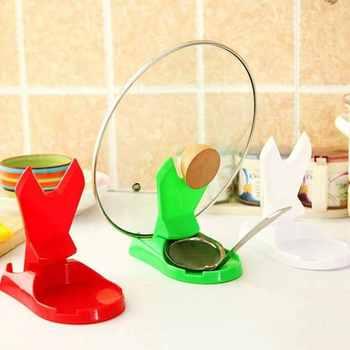 Urijk 1PC Creative Home Random Color ABS Folding Pot Rack Holder Kitchen Lids Storage Tools Home Kitchen Accessories Gadgets