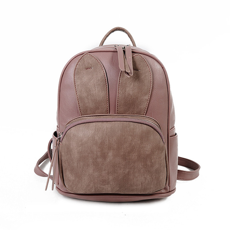 2017 Women Fashion Character Backpacks High Quality PU Leather School Bags For Teenagers Girls Top handle