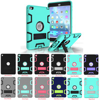 Coosybo For Ipad 6 Case Armor Box Three Layer Heavy Duty Rugged Hybrid Protective With KickStand