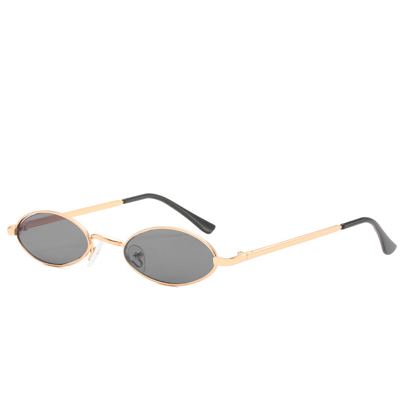 Personality retro sunglasses small frame sunglasses metal marine film sunglasses men and women oval glasses in Women 39 s Sunglasses from Apparel Accessories