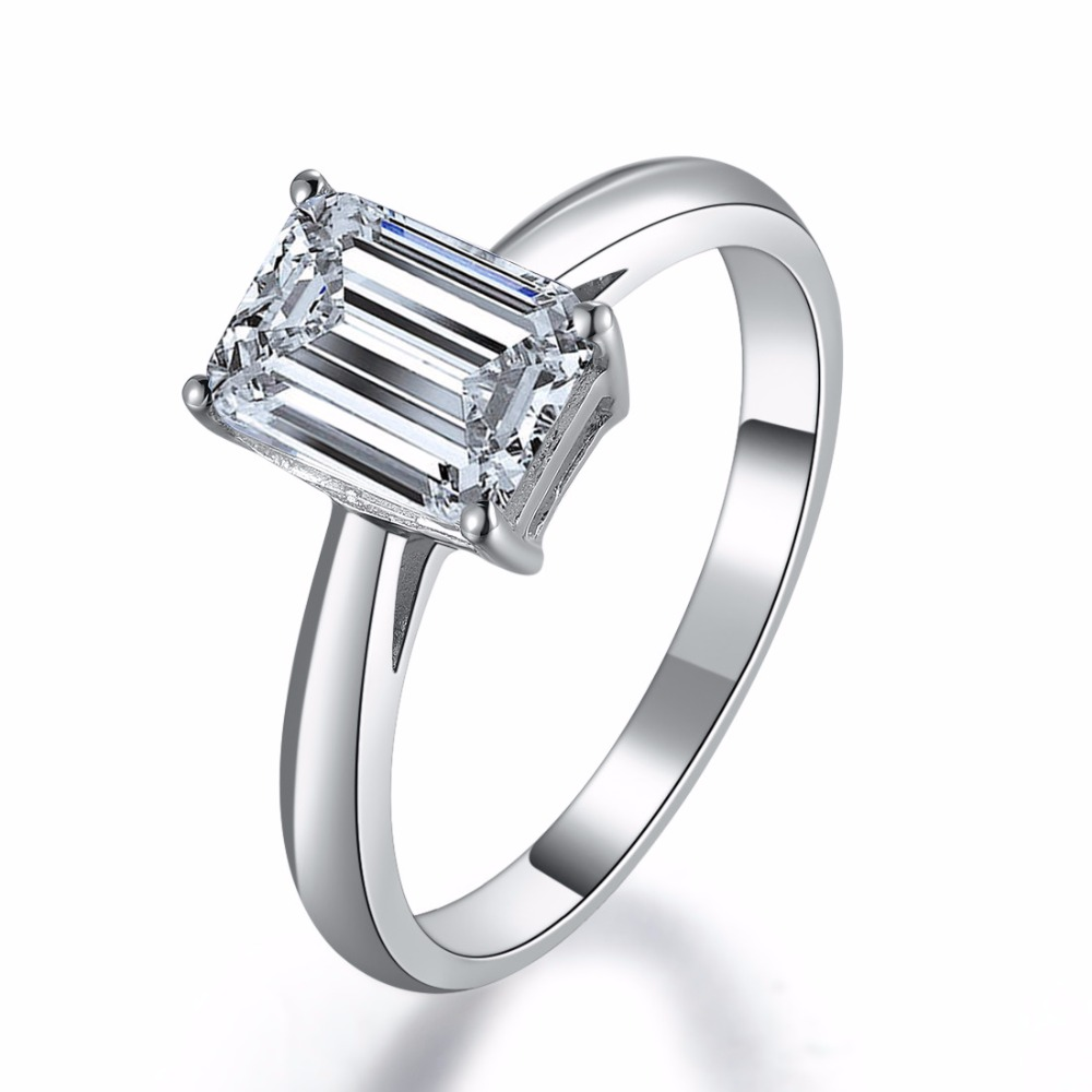 wholesale emerald cut 1ct sona diamond emerald ring brand. Black Bedroom Furniture Sets. Home Design Ideas