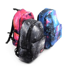 2016 New for Galaxy Pattern Unisex Travel Backpack Canvas Leisure Bags School bag Rucksack