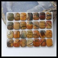2 set Von Natürliche Multi-Farbe Picasso jaspis Cabochon, 16x13x2mm, 16x13x4mm, 35,7g