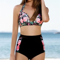 2016 Sexy Floral Print Bikinis Swimwear Women Brazillian Bikini Set High Waist Swimsuit Women S Bathing
