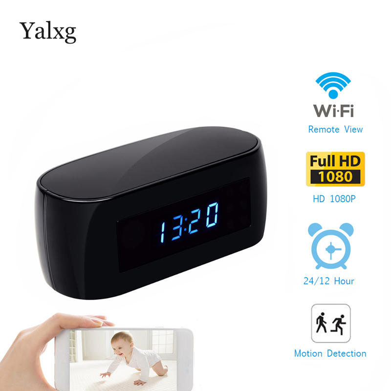 Home HD IP 1080P wifi IP Video Camera With Battery Electronic Table Clock P2P Motion Sensor Mini IP Camera Video Recorder DVRHome HD IP 1080P wifi IP Video Camera With Battery Electronic Table Clock P2P Motion Sensor Mini IP Camera Video Recorder DVR