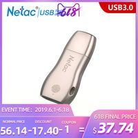 Netac U628 Fingerprint Encryption USB3.0 Pen Drive 32GB 64GB High Speed memory stick Portable Flash Drive USB penDrive
