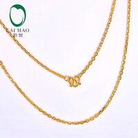 CAIMAO 24 K чистая 999 золотая цепочка дизайн женская Изысканная помолвка изысканный романтический подарок трендовая 45 см длина