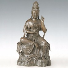 ATLIE BRONZES Bronze buddha statue Guanyin tuas goddess of mercy Buddhist KWAN-YIN Chinese Buddha sculpture