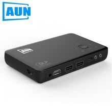 Aun am1s situado en 2500 mah batería portátil proyector proyector para cine en casa al aire libre de negocios conferencia beamer soporte gratuito