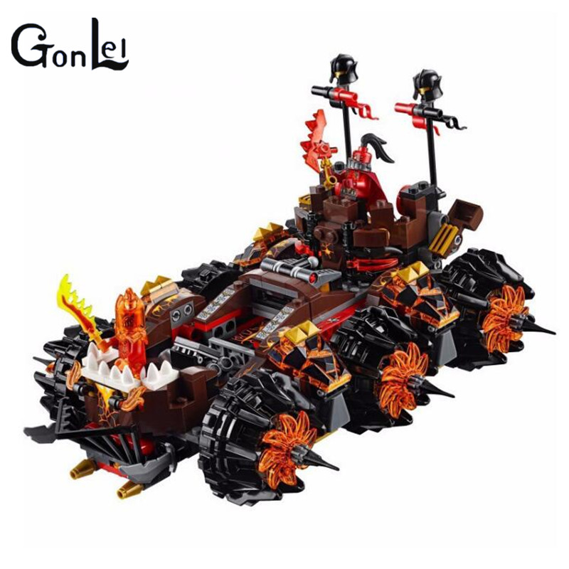 (GonLeI)10518 Nexus Knights Siege Machine Model building kits compatible with city 3D blocks Educational children toys lepin 14018 8017 nexus knights siege machine model building kits compatible with lego city 3d blocks educational children toys