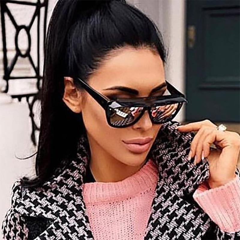 93b381036e09 VIVIBEE 2019 Trend Fashion Big Size Woman Sunglasses Retro Top Vogue  Oversized UV400 Vintage Square Italy Sun Glasses for Women