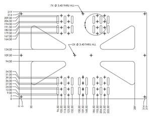 Image 2 - Funssor 200x300mm תמיכת מיטה מחוממת אלומיניום קומפוזיט מורחב Y תובלה צלחת עבור Prusa i3