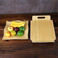 Creative Bamboo Fruit Tea Tray Natural Wood Serving Plates Multi Use Eco Storage Trays For Fruit