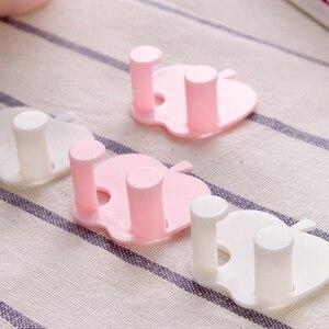 Image 3 - Soporte de llave de pared para casa de 5 piezas ganchos de pared adhesivos para auriculares colgador de llaves de cocina toallas de baño colgador de ventosa gancho