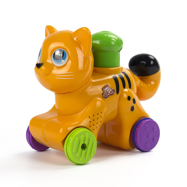 Happy Electric Cat Electronic Pets Plastic Baby Toys Kids Musical Running Lighting Interactive Toys Christmas Gift for Children