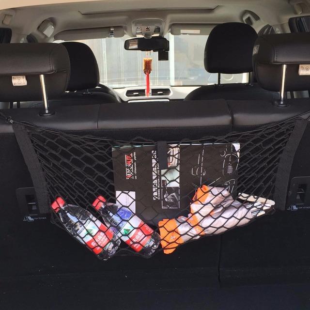 Bolsa de suspensión Del Coche de dos cajas tronco suv HUANLISUN silla colgando bolsas de almacenamiento de bolsas de guantes vehículo neto neto