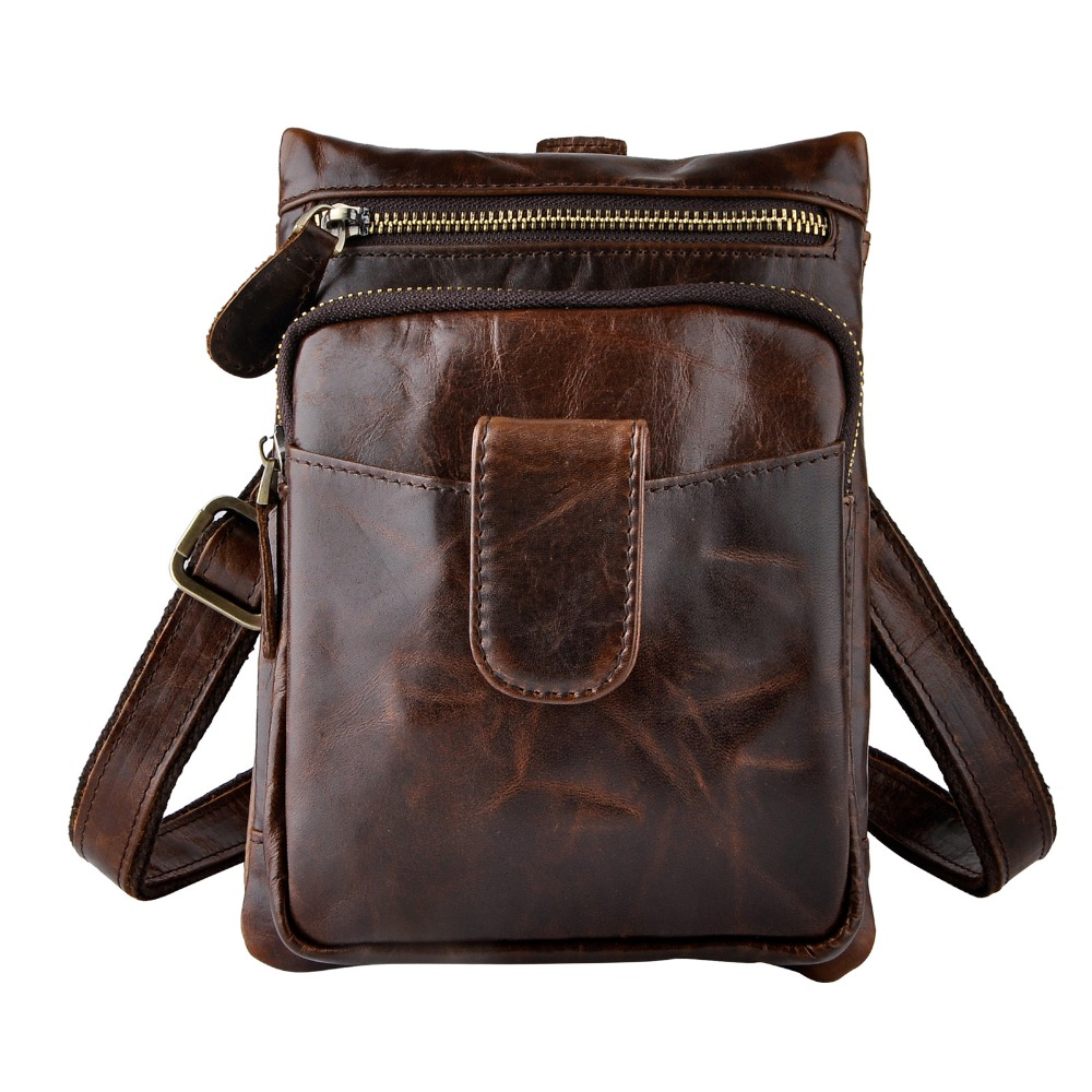 Fashion Leather Multifunction Hook Waist Pack Cross-body Bag 7