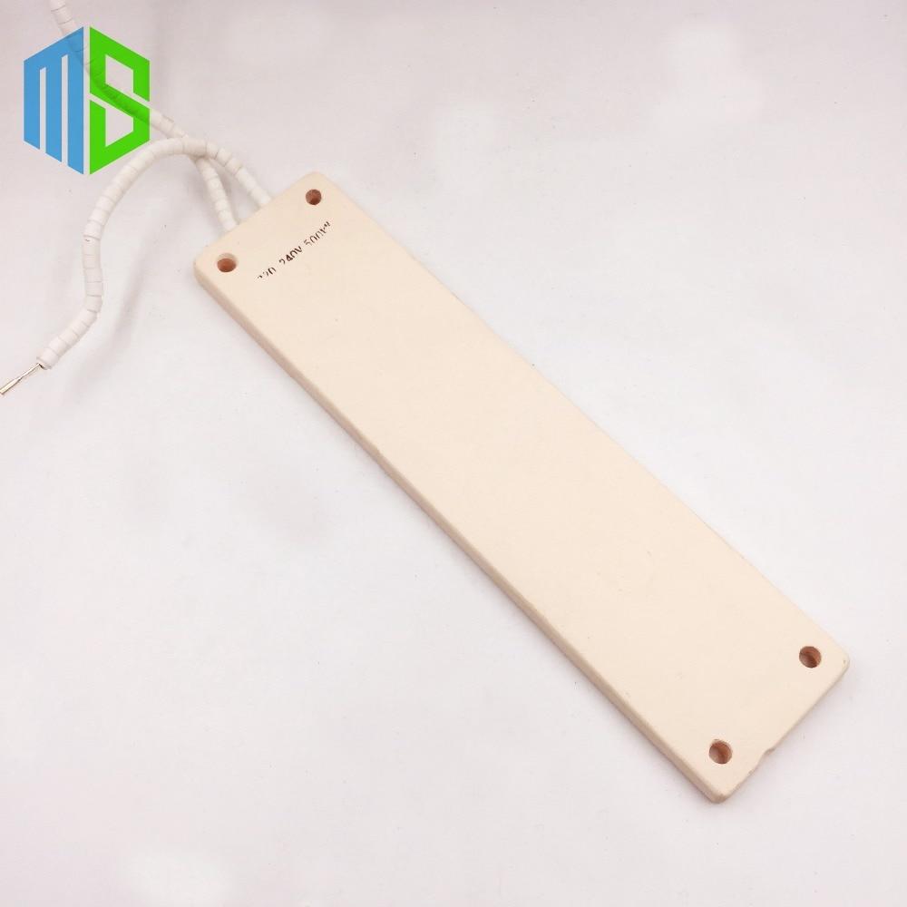 IR 245x60mm Plana Branco Top Infravermelho Placa De Aquecimento De Cerâmica Placa de Aquecimento Para A Estação de Retrabalho BGA de Ar Com clipe de Metal