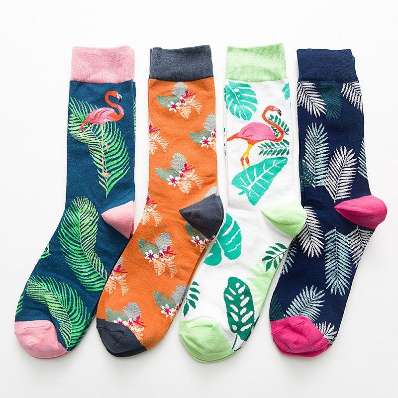 Frugal Fouretaw 1 Pair Street Fashion Japanese Harajuku Style Flamingo Pattern Cotton Personality Love Unisex Mens Winter Warm Socks Underwear & Sleepwears