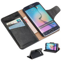 100 Genuine Leather Luxury Phone Case For Samsung Galaxy S6 Edge High Quality Wallet Cover With