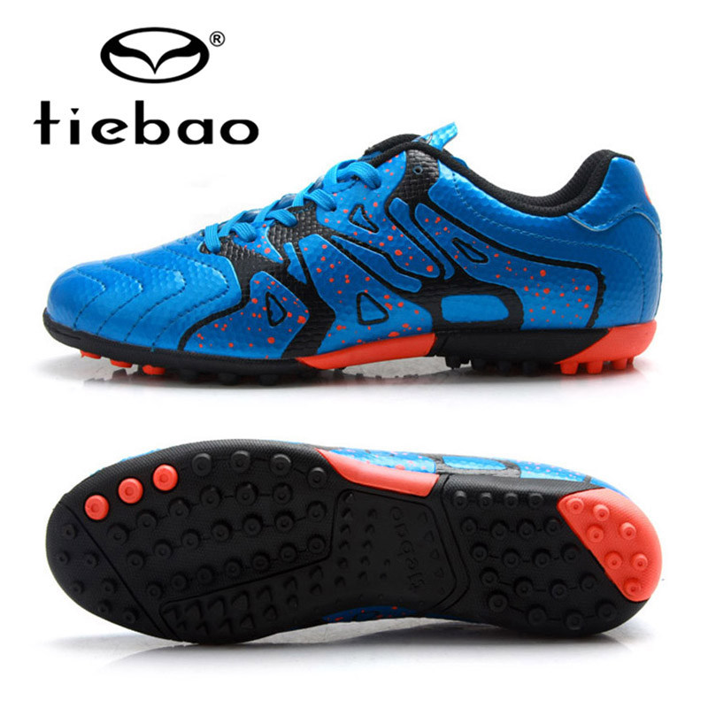 TIEBAO Professional Soccer Shoes 2017 Teenagers Sports Football Boots TF Turf Soles Sneakers chuteira futebol Soccer Cleats health top soccer shoes kids football boots cleats futsal shoes adult child crushed breathable sport football shoes plus 36 45