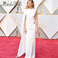 Karlie Kloss  89th Oscar Red Carpet Dresses 2017 Fashion Celebrity Dress Floor Length Cape White Evening Gown Custom
