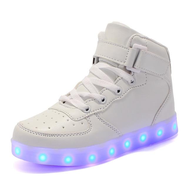KRIATIV ילדים אור עד נעליים גבוהה למעלה אור Led עד זוהר נעליים לילדים בני בנות נעליים