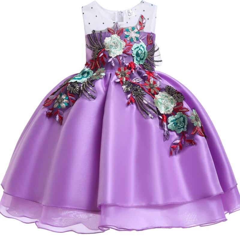 874 40 De Descuentoalta Calidad 2019 Nuevo Bordado Niñas Elegante Vestido De Fiesta De Boda Niños Vestidos Para Niñas Vestido De Princesa Niños