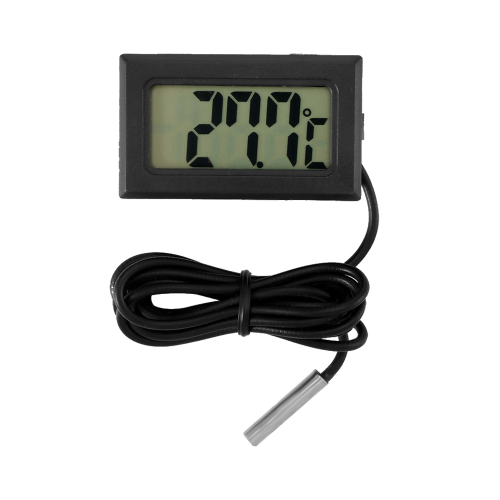 LCD Digital Thermometer Car Thermometer with Waterproof Probe Sensor -50 ~ 110C for Auto Home Fish Tank Water Temperature