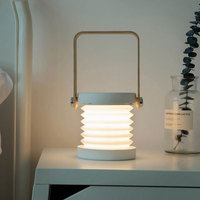 Creative LED Multifunction Lantern Night Light Portable Foldable USB LED Desk Lamp Camp Reading Flashlight Light MYC